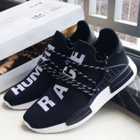 """Adidas"" NMD Human Race Black Leisure Running Sports Shoes"
