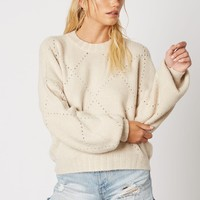 Cream Pointelle Sweater