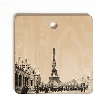 Bianca Green VINTAGE PARIS AROUND 1900 Cutting Board Square