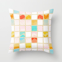 morning news Throw Pillow by SpinL