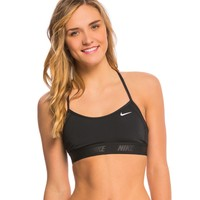 Nike Women's Solids Racerback Sport Bra Bikini Top at SwimOutlet.com - Free Shipping