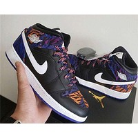 Air Jordan 1 Mid Zebra Casual All-match Sports Shoes Basketball Shoes