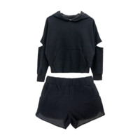 Hooded Sweater & Shorts Twin Set