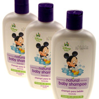 Lot of 3 Baby Shampoo Disney Daily Renewal Natural Bath 12 Oz Lavender Tear Free