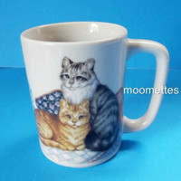 Otagiri Cats Mug Kittens Kitty Hat Box Pillows Cat Lady Coffee Cup Fraser Collection Japan