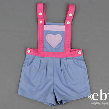 Heart Jumper Kid's Vintage Children's Toddler Vintage 80s Vintage Romper Size 4 Heart Romper Spring Pictures Valentine's Day Outfit