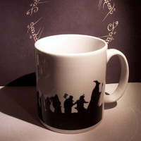 Thorin and Company Hobbit themed coffee mug