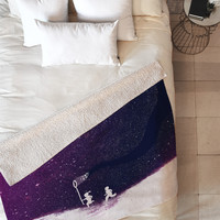 Budi Kwan Starfield Purple Fleece Throw Blanket