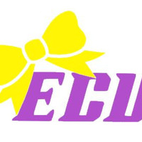 """East Carolina University with Bow Decal for Laptop, Tablet, Notebook, Car - Choose 3"""", 4"""", 5"""" or 6"""".   Choose """"ECU"""" Color & Bow Color"""