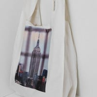 Eco Friendly Grocery Bag - Empire State Building / belt and hook   reusable shopping bag, reusable grocery bag, ecobag, New York Photography