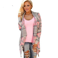 Womens  Plus Size Fall Oversized  Loose Sexy Cardigan Sweater
