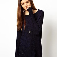 ASOS Chenille Jumper With Ladder Detail