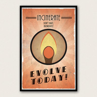 Bioshock Inspired Plasmid Poster - Incinerate
