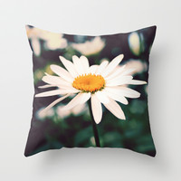 Afternoon Daisy Throw Pillow by Tangerine-Tane
