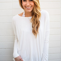 Love to Lounge Long Sleeve Top Ivory