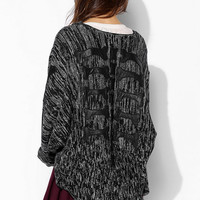 Evil Twin Back Boned Open-Front Cardigan - Urban Outfitters
