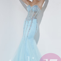 Strapless Sweetheart Prom Dress with Corset Top