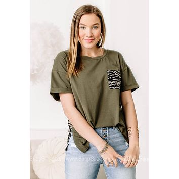 Earned Your Stripes Zebra Detailed Top