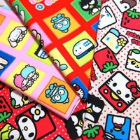Sanrio Characters Fabric scraps Hello Kitty Keroppi Twin little star and many more