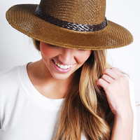 Braided Panama Hat- Brown