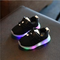 Eur 21-36 kids new fashion children shoes with led light up luminous glowing boys girls shoes brand children