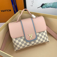 lv louis vuitton women leather shoulder bags satchel tote bag handbag shopping leather tote 144