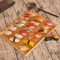 12pcs/set PVC Japanese Sushi Set Handicraft Model Perfect Table Display Food Store Shop Decoration Kids Pretend Play Toy