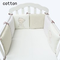 Hot Sale Infant Crib Bumper Bed Protector Baby Kids Cotton Cot Nursery bedding bear bumper for boy and girl