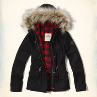 Flannel Lined Wool-Blend Anorak