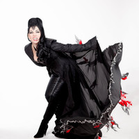 Regina Once Upon a Time OUAT Lana Parilla Reproduction Feather Black Jacket Cape Necklace Cosplay