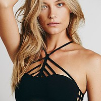 Free People Womens Pyramid Strappy Front Bra