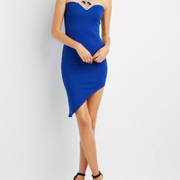 Embellished Asymmetrical Bodycon Dress