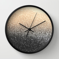 GATSBY BLACK GOLD Wall Clock by Monika Strigel