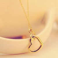Heart Locked In Heart Fashion Necklace