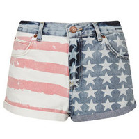MOTO Flag Print Hotpants - New In This Week  - New In