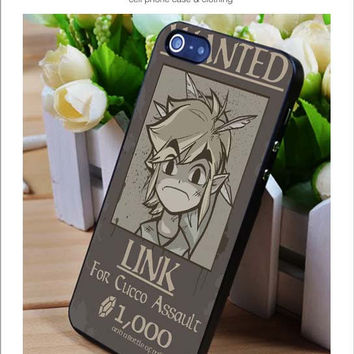 Wanted Link Zelda iPhone for 4 5 5c 6 Plus Case, Samsung Galaxy for S3 S4 S5 Note 3 4 Case, iPod for 4 5 Case, HtC One for M7 M8 and Nexus Case