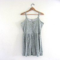 STOREWIDE SALE...80s floral romper. summer dress with shorts. L