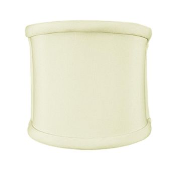 """4""""W x 4""""H Clip-on Sconce Half-Shell Lampshade Eggshell Shantung Fabric"""