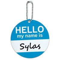 Sylas Hello My Name Is Round ID Card Luggage Tag