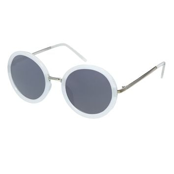 ASOS Round Sunglasses With Metal Bridge Detail