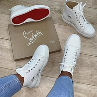 Christian Louboutin White high top casual shoes