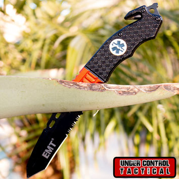 EMT / EMS Rescue Knife with Easy Spring Assisted Opening
