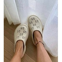 GUCCI GG Womens Double G Hollow Slippers Shoes-4
