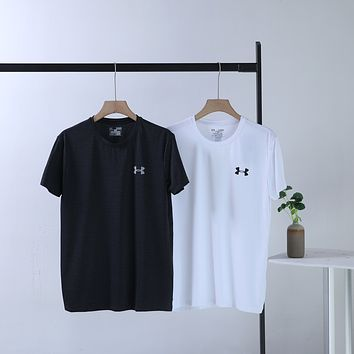 """Under Armour"" Men Training Sport Breathable Hollow Logo Round Neck Short Sleeve Quick-drying T-shirt Top Tee"