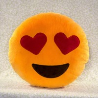 Hearts Emoji Pillow