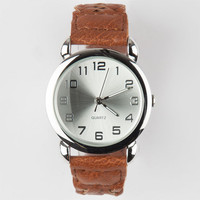 Braid Band Watch Brown One Size For Women 25189640001