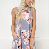 Sweet Floral Pocket Dress
