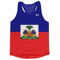 Haiti Country Flag Running Tank Top Racerback Track and Cross Country Singlet Jersey