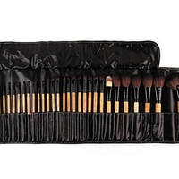 Professional Make Up Brush Kit with Bag 32Pcs. Black or Pink.