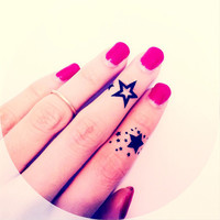 4pcs Finger Star tattoo - InknArt Temporary Tattoo - wrist quote tattoo body sticker fake tattoo wedding tattoo small tattoo